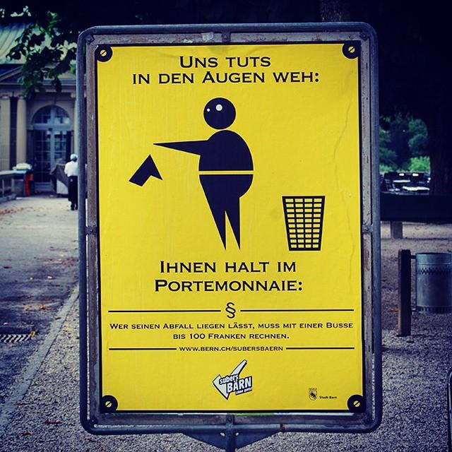 Don't be a litterbug. #signs #swisstravel #portlyfellow