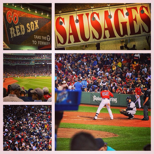 Catching a game at #Fenway before the season's up! #redsox v #yankees