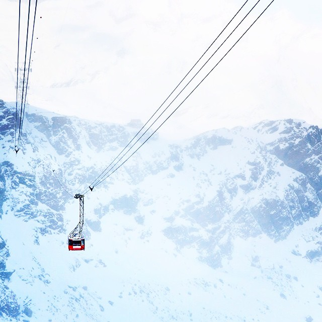 The climb to the tippy top. #cablecar #swissalps #tbt