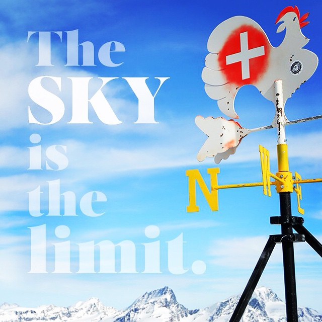 Above the clouds at 12,740 feet, anything seems possible. #alps #zermatt #quotememonday