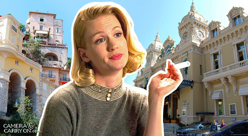 Where did Betty go? We Take Mad Men On a Vacation! Exploring the vacation destinations of characters AMC's hit tv show Mad Men. #travel #madmen #popculture – Betty in Monte Carlo | CameraAndCarryOn.com