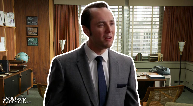 Where did Pete go? We Take Mad Men On a Vacation! Exploring the vacation destinations of characters AMC's hit tv show Mad Men. #travel #madmen #popculture – Pete in his office | CameraAndCarryOn.com