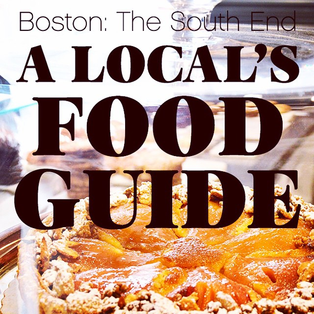Tasty new post -- A Local's Food Guide to Boston's South End! From heavenly sweets to kickass burgers, and lots of gourmet goodness in between. Visit the site for all the scrumptious details. ?CameraAndCarryOn.com