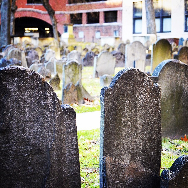 The #Bostonian famed for his night ride lies here... Search for the pennies, and you'll find this silversmith's resting place. ?#landmark #tombstones #freedomtrail #paulrevere