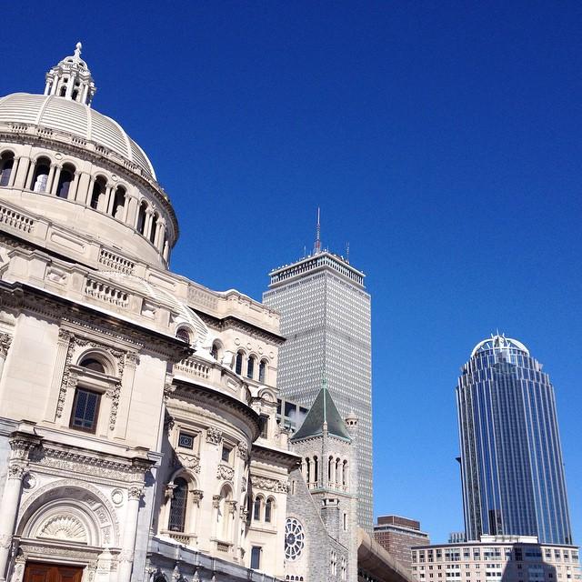 Sky high. #blue #boston #nofilter