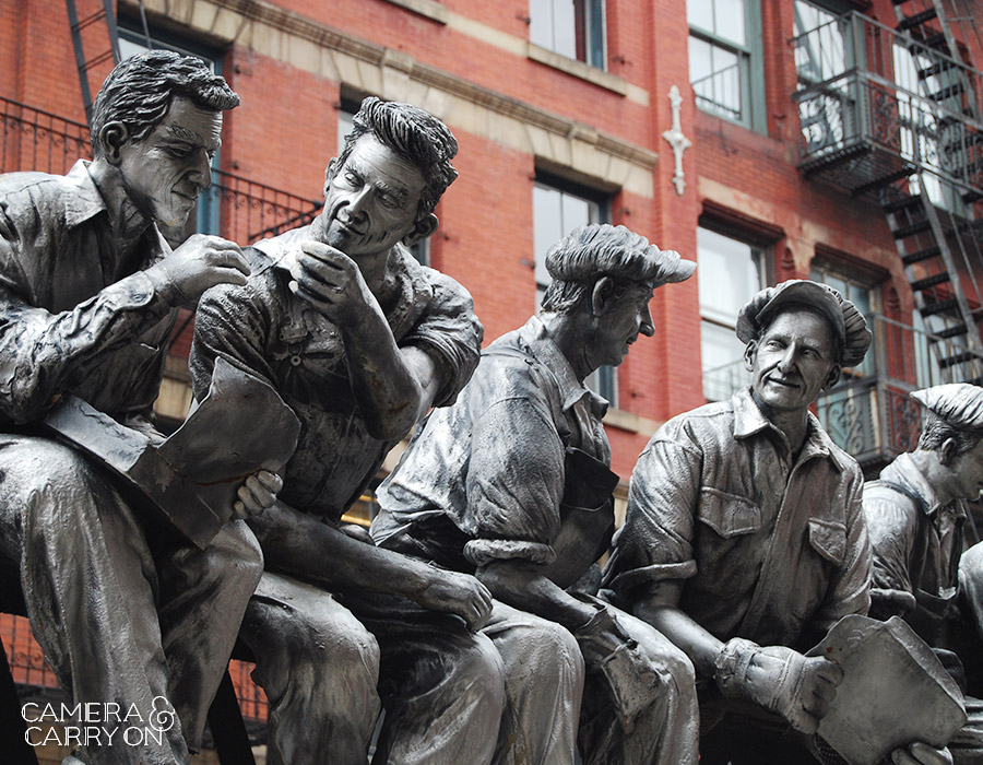 24 Photos That Will Inspire You to Travel the World NOW — Union workers take a lunch break in this NYC sculpture #photograph #travel #wanderlust | CameraAndCarryOn.com