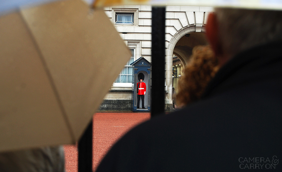 Photo On the Map: London, UK — Changing of the Guard at Buckingham Palace in London on a rainy day in September #soldier #guard #buckingham | CameraAndCarryOn.com