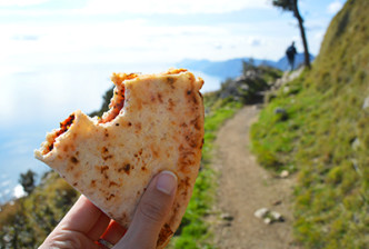 How I Tightened My Tush with Neapolitan Pizza - We hike the Path of the Gods, fuel up on leftover neopolitan pizza, and soak in gorgeous views | CameraAndCarryOn.com