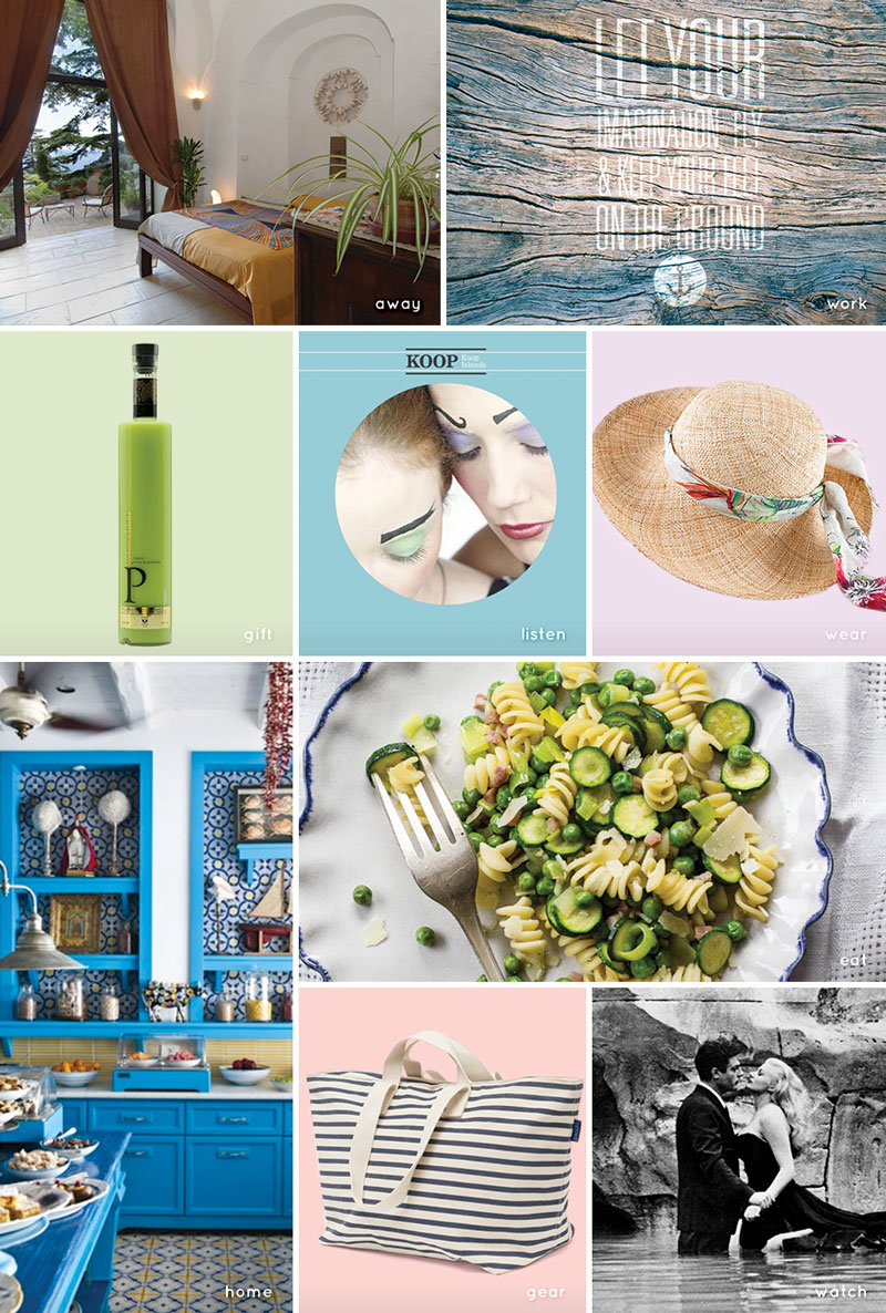 On My Radar: April 2015 — All things travel for home, work and away, inspired by the Amalfi Coast in Italy. #style #travel #decor #global #food #getaway #wanderlust, grid photo | CameraAndCarryOn.com
