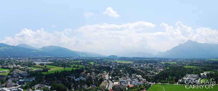 Photo On the Map: Salzburg, Austria - Panoramic view from the Festung Hohensalzburg | CameraAndCarryOn.com