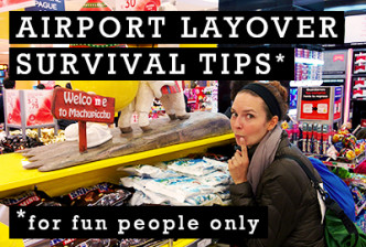 How to Show an Airport Layover Who's Boss: Unlock your inner werido and have a blast #airport #layover #travel #tips #surive| CameraAndCarryOn.com