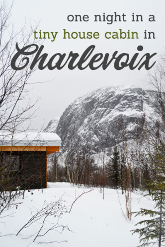 From Lemons to Lemonade: A Night at a Tiny Cabin in Charlevoix -- #tinyhouse #cabin #canada #mountains #winter| CameraAndCarryOn
